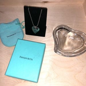 Rare Tiffany & Co. Double Heart  Necklace